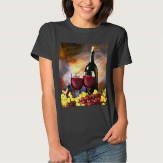 Red Wine and Grapes T-Shirt