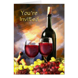 Wine Before and After You're Invited Card