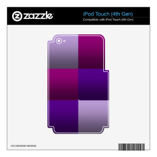 Wine Berry Squares Skin For iPod Touch 4G