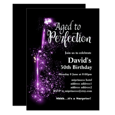 miprincess Wine birthday invitation, Aged to Perfection Card
