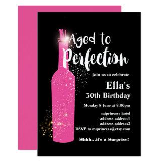 Wine birthday invitation, Aged to Perfection Card