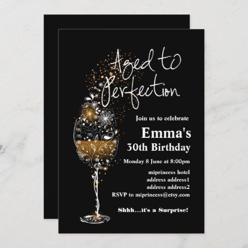 Wine birthday invitation Aged to Perfection Invitation