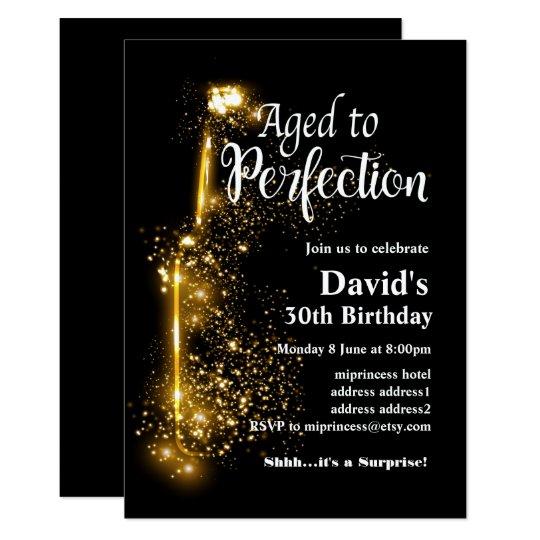 wine birthday invitation aged to perfection invitation zazzle com
