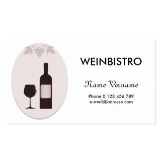 wine bistro business card