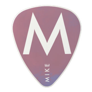 wine/blue cool & stylish guitar picks with name