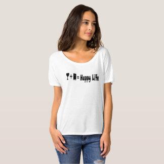 Wine + Book = Happy Life T-Shirt