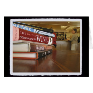 Wine Books Stationery Note Card