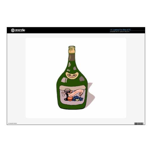 """Wine Bottle 14"""" Laptop Skin"""