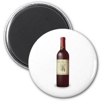 wine bottle 2 inch round magnet