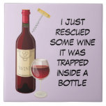 "Wine bottle and glass illustration tile<br><div class=""desc"">Funny quote expression with wine bottle and glass background</div>"