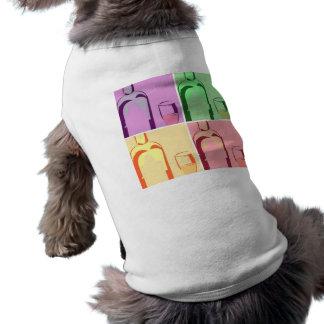 Wine Bottle and Glass Pop Art T-Shirt