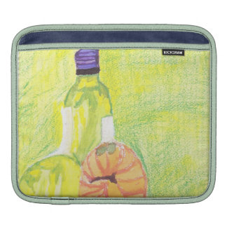 Wine bottle and melons Ipad Sleeve