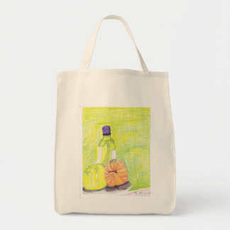 Wine Bottle and Melons Tote Bag