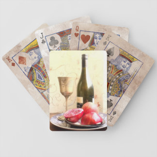Wine Bottle And Pomegranates Bicycle Playing Cards