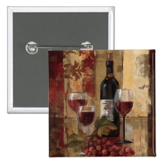 Wine Bottle and Wine Glasses Button