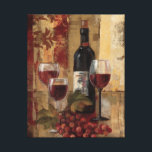 "Wine Bottle and Wine Glasses Canvas Print<br><div class=""desc"">&#169; Silvia Vassileva / Wild Apple.  An image of three wine glasses and a wine bottle. The glasses are filled with red wine,  and a bunch of red grapes can be seen beside the glasses.</div>"