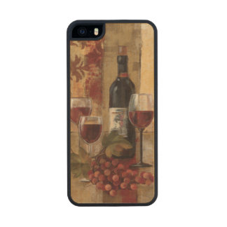 Wine Bottle and Wine Glasses Carved® Maple iPhone 5 Case