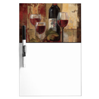 Wine Bottle and Wine Glasses Dry-Erase Board