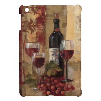 Wine Bottle and Wine Glasses iPad Mini Cases