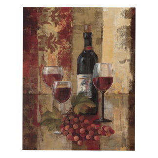 Wine Bottle and Wine Glasses Panel Wall Art