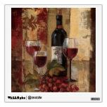 Wine Bottle and Wine Glasses Room Sticker