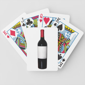 Wine Bottle (Blank Label) Bicycle Card Bicycle Poker Deck
