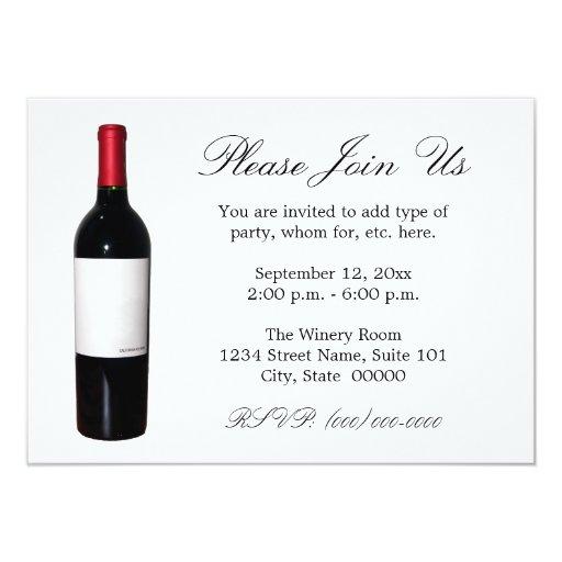 Wine Bottle (Blank Label) Invitations