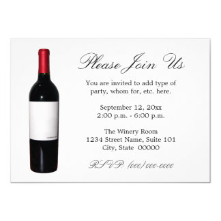 Wine Bottle (Blank Label) Invitations