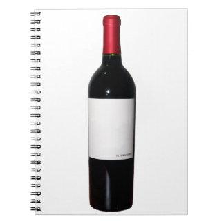 Wine Bottle (Blank Label) Notebook