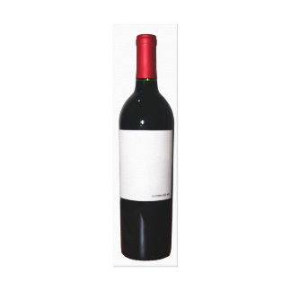 Wine Bottle (Blank Label) Wrapped Canvas Canvas Print