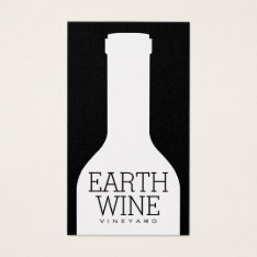 Wine Bottle Business Card at Zazzle