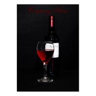 Wine bottle business card template
