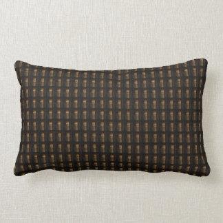 Wine Bottle Cap Golden Brown Pattern DIY Template Lumbar Pillow