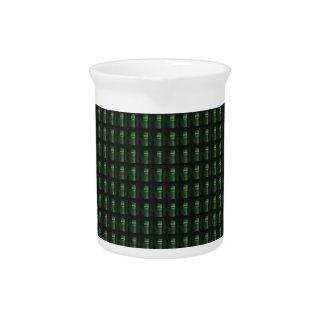 Wine Bottle Cap Green Pattern DIY add TEXT PHOTO Pitcher