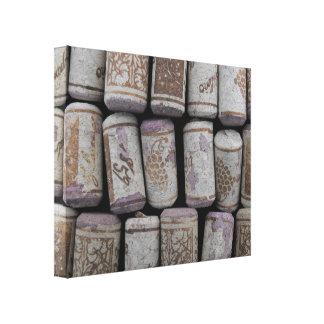 Wine Bottle Corks Close-Up Photo Canvas