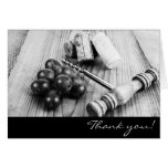 Wine Bottle Corks Thank You Card at Zazzle