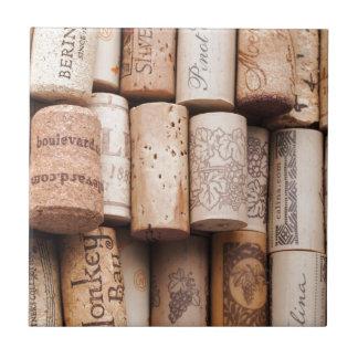 Wine Bottle Corks Ceramic Tile