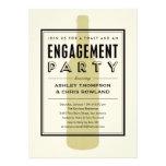 Wine Bottle Engagement Party Invitations