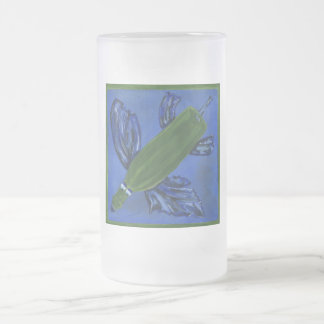 Wine Bottle Fish Frosted Glass Beer Mug