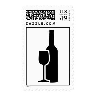 Wine bottle Glass Stamp