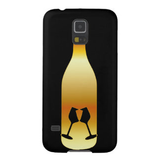 Wine bottle in gold colors galaxy s5 cover