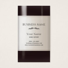 Wine Bottle Label Business Card at Zazzle
