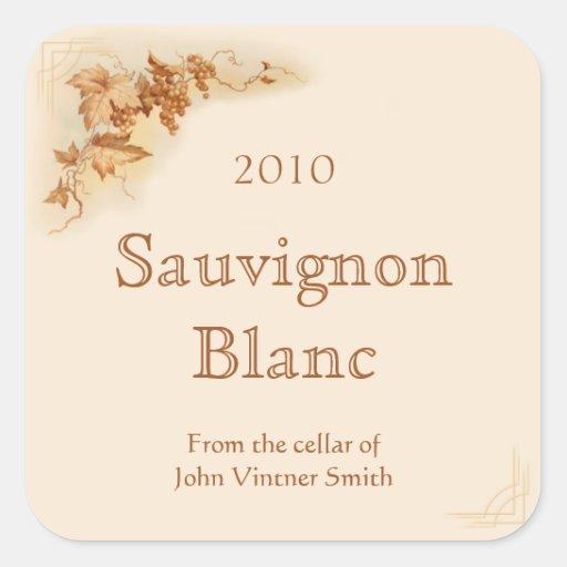Wine bottle label sticker
