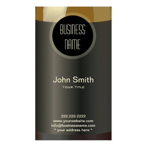 Wine Bottle Label Wine Business Card   Zazzle