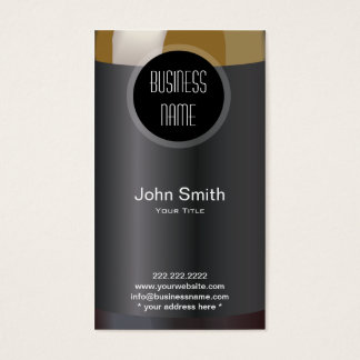 Wine Bottle Label Wine Business Card