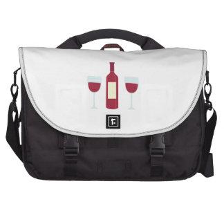 Wine Bottle Laptop Commuter Bag