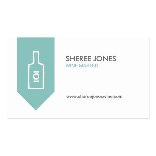 WINE BOTTLE LOGO (AQUA) Business Card