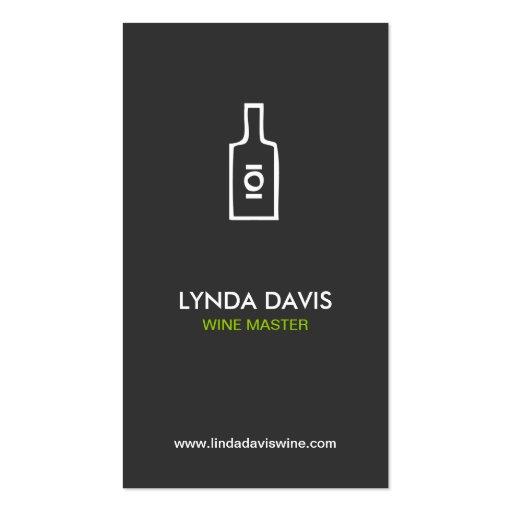 WINE BOTTLE LOGO (DK GRAY) Business Card