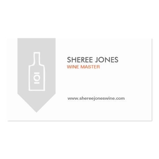 WINE BOTTLE LOGO (GRAY) Business Card