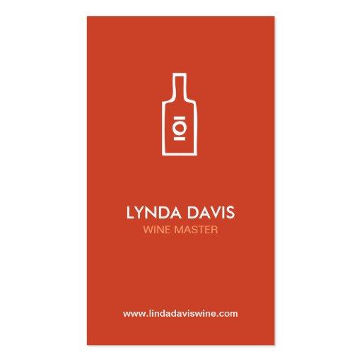 WINE BOTTLE LOGO (RUST) Business Card